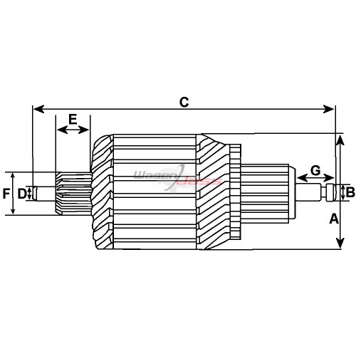 Armature for Starter-Generator LUCAS 22715K / 22742E / 22742K / 22747A