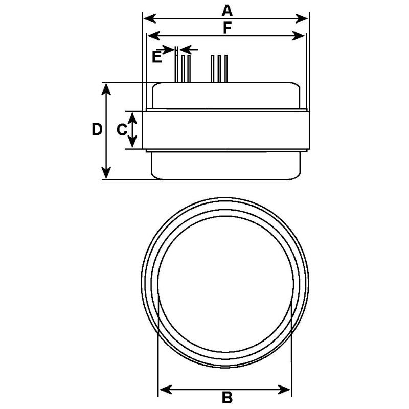Ständerwicklung für lichtmaschine DUCELLIER 2518032 / 2518033 / 2518099