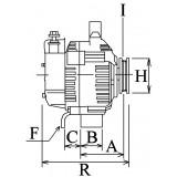 Alternateur remplace Bosch 0120689541 / 0120689540 / 0120689527