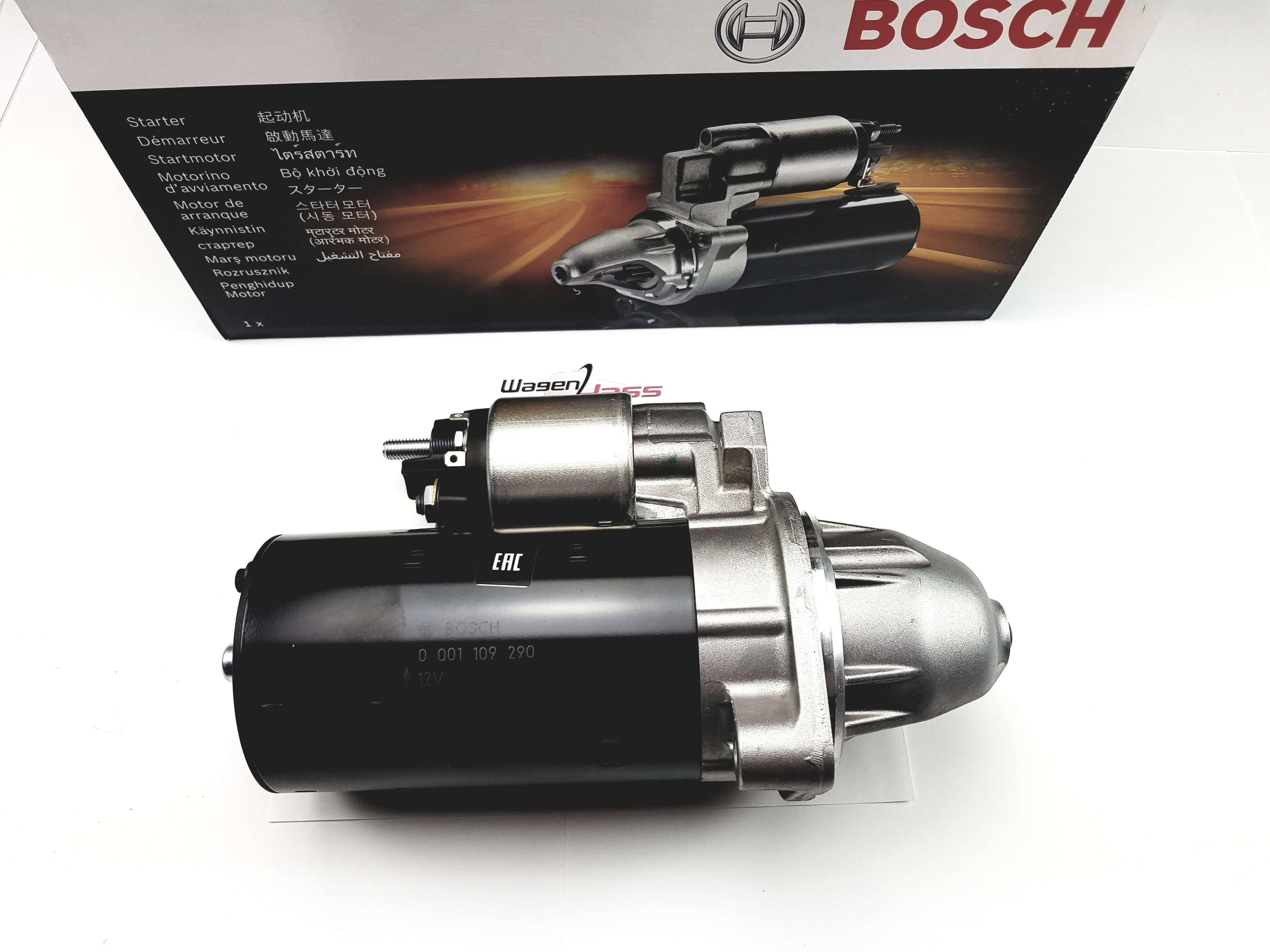 1988-1993 Démarreur remplace Bosch 0001109290 pour Mercedes 190//190D 201.128