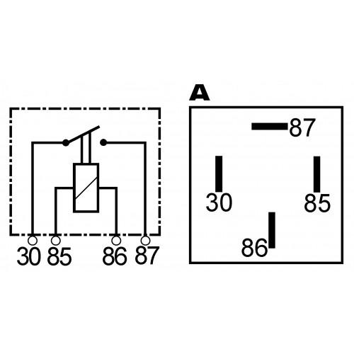 Relais 12 V - 30 A ersetzt BOSCH 0332014409 / 0332014454 / 0332019457