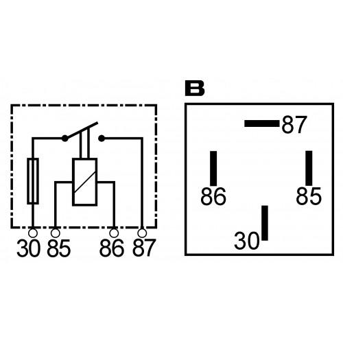 Mini relais 12 V - 15 A