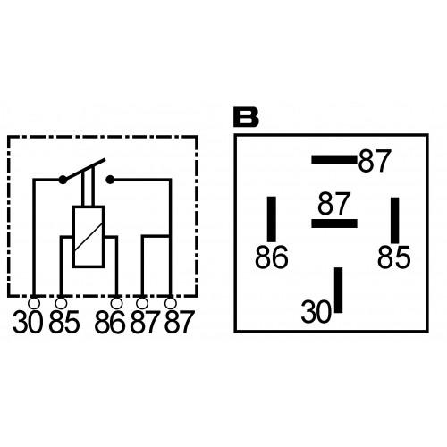 Mini relais 12 V - 30 A