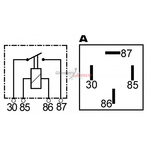 Mini Magnetschalter 24 Volts 20 Ampères ersetzt FORD 97CT15K235AA / 97CT15K234AA