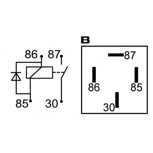 Mini relais 24 Volts 20 Amp�res