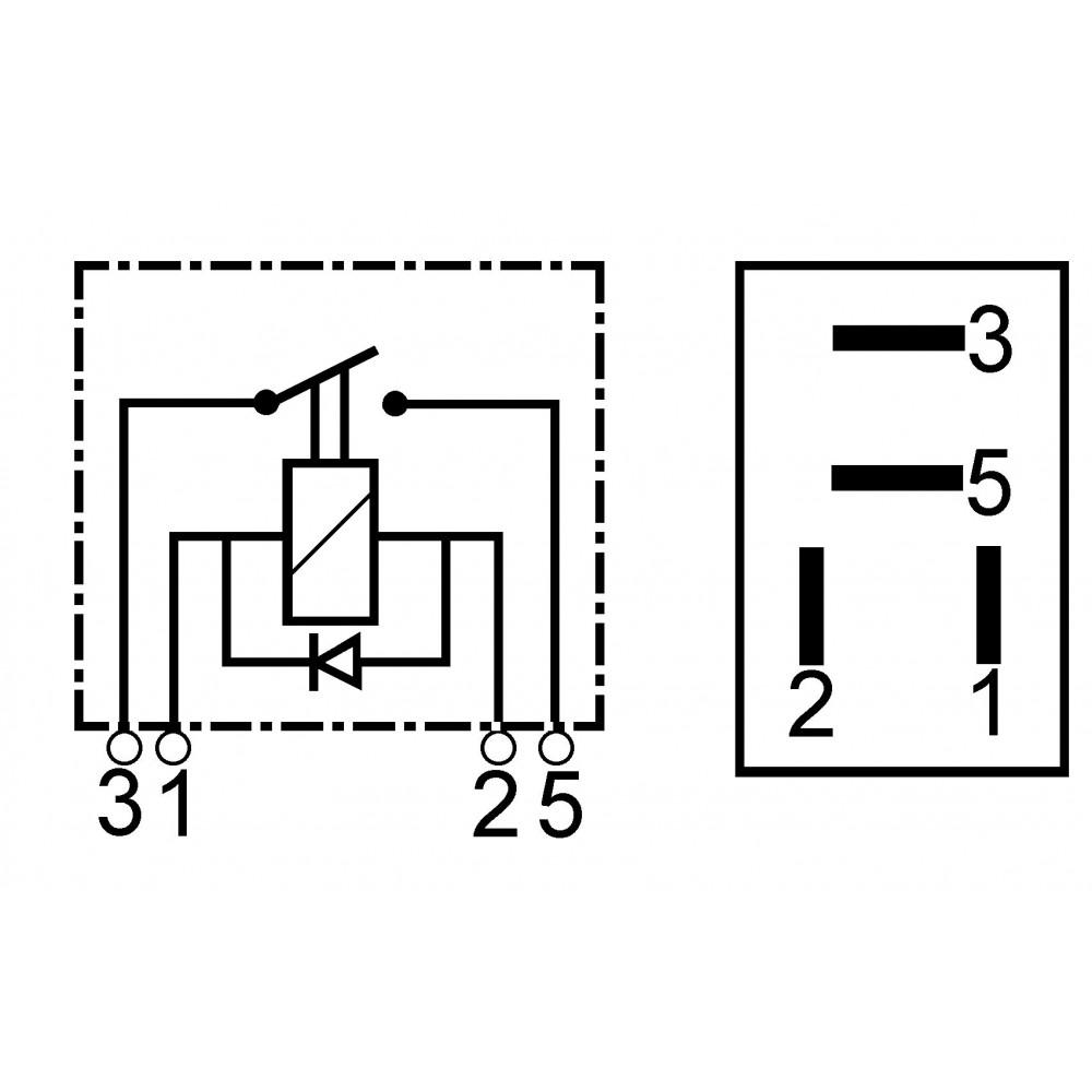 Micro Relay 12 Volts   Wherle 29200045
