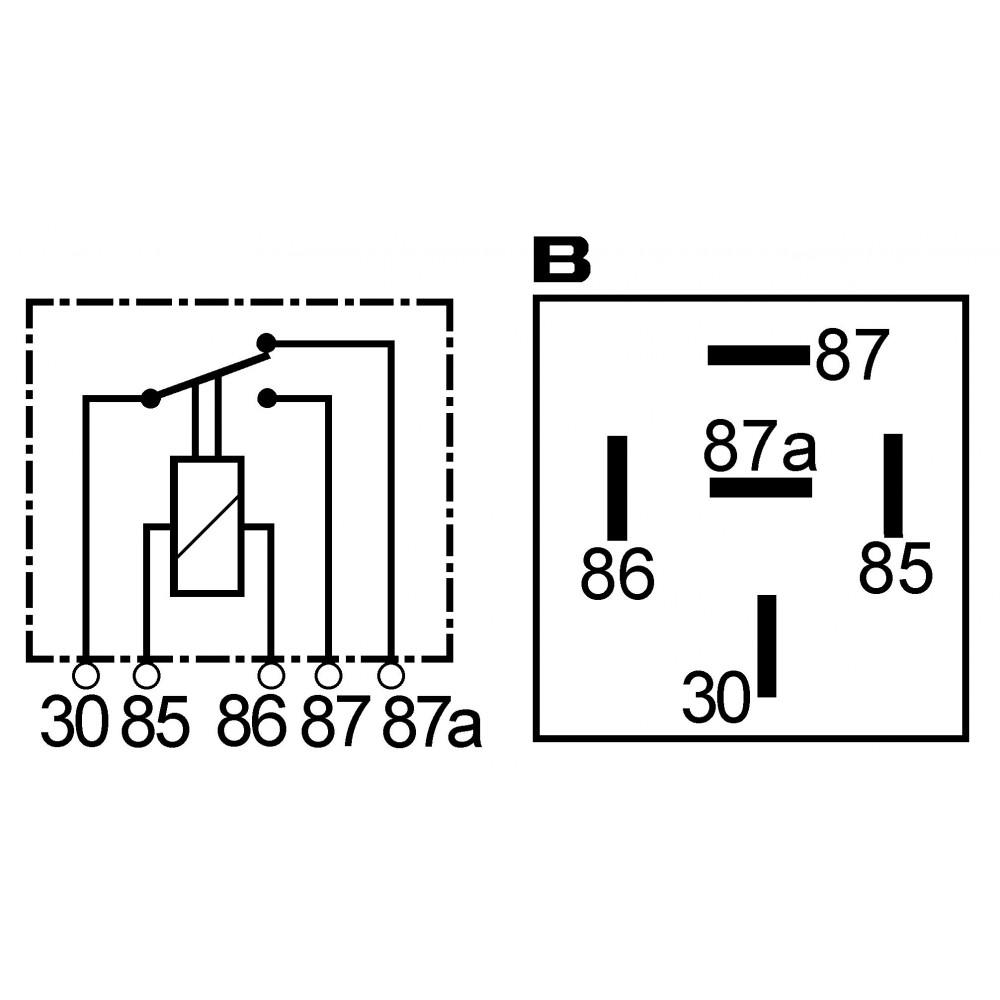 relais deux contacts 12 volts 40 15 amp remplace nissan. Black Bedroom Furniture Sets. Home Design Ideas