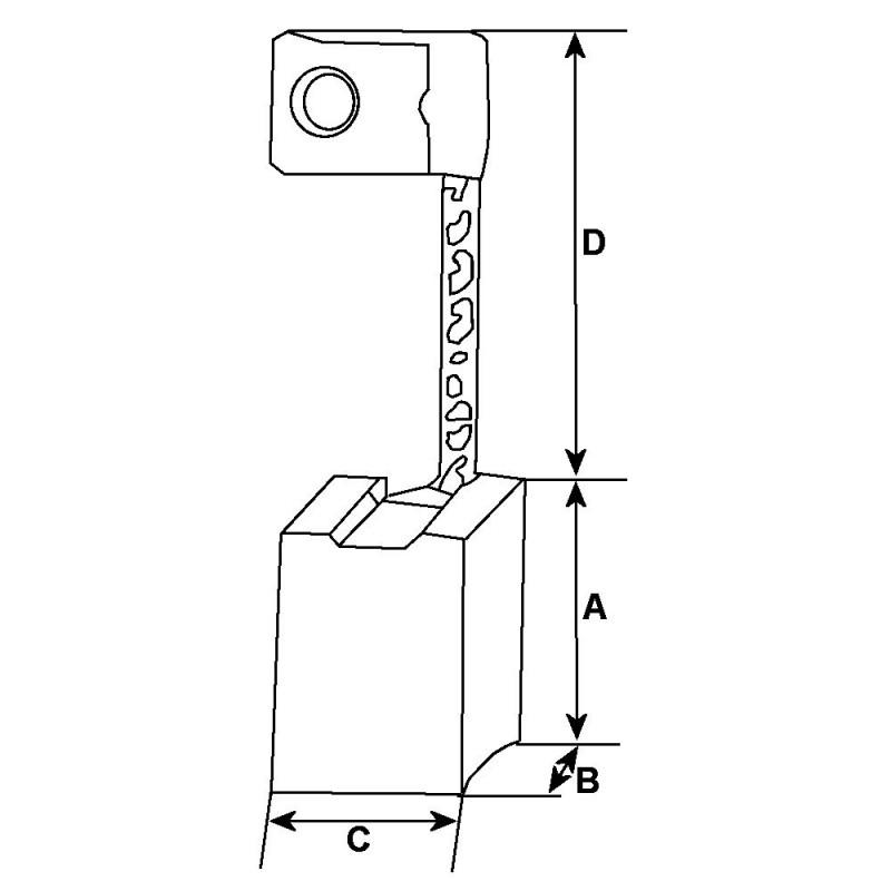 Kohlensatz / - für anlasser DENSO 128000-2450 / 128000-2470 / 128000-2560