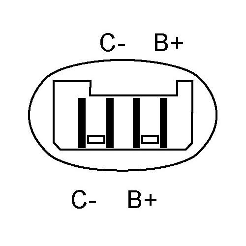 Ignition coil for Citroën BX GTI / C15 / Peugeot 205 / 309