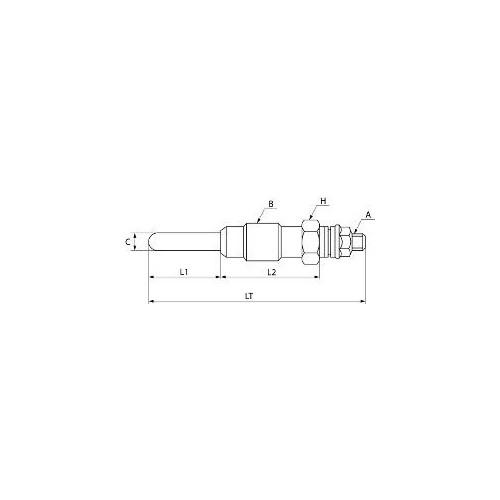 Bougie de préchauffage remplace Bosch 0250202119 / Beru 517mj / 580mj