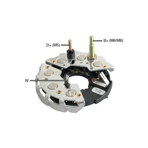 Pont de diode pour alternateur Bosch 0120488186 / 0120488187 / B120402578