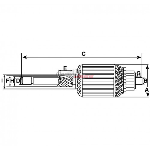 Armature for Starter-Generator LUCAS C40T / 22700 / 22755 / 22755A