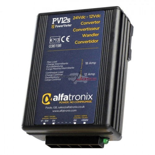 Convertisseur de tension 24V/12V replacing ALFATRONIX PV12S