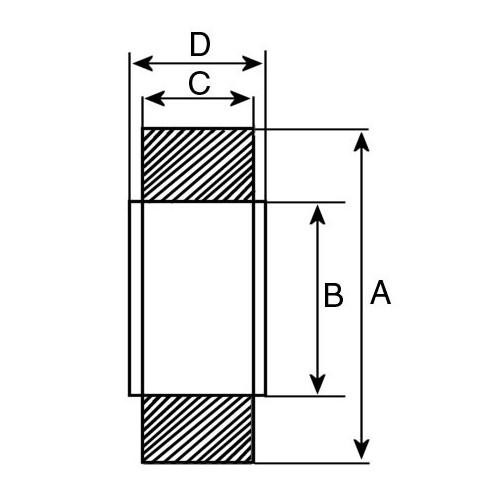 Ball Bearing type 6201-2RS1 / 6201-2RS1/C3 for alternator