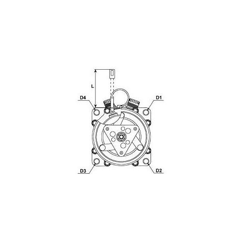 Compresseur de climatisation remplace Sanden SD7H15-8227 / SD7H15-8181 / SD7H15-8023