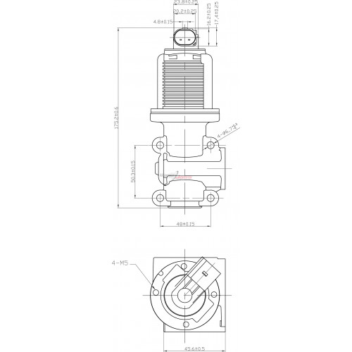Vanne EGR remplace Fiat 46823850 / 55194735 / 71723453
