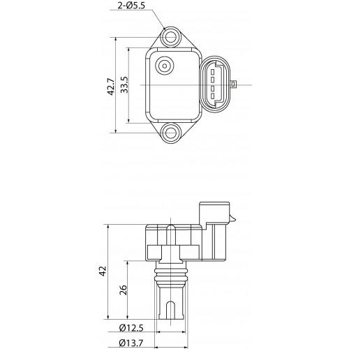 MAP Sensor replacing 12140872648 / 872648 / MHK100820