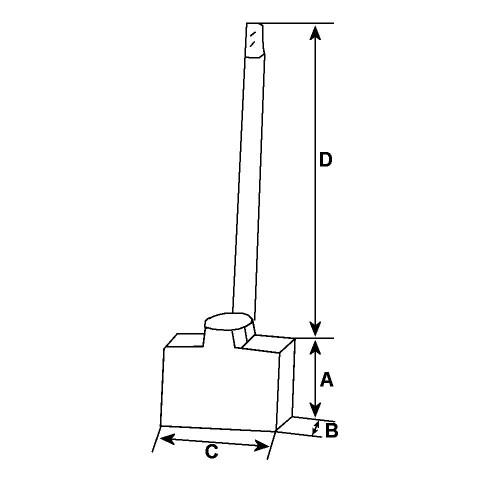Brush set for starter LUCAS M78R / 26009 / 26800D / 26800H / 26801 / 26801B / 26801F / 26802B