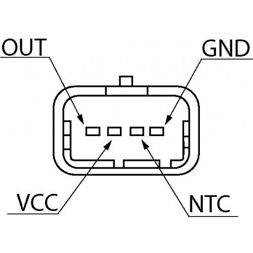 Capteur de pression atmospherique remplace 9649396580 / 1920LG / 1865A122