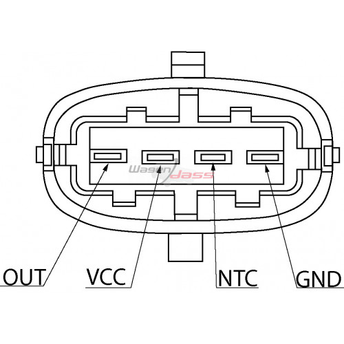 Capteur de pression atmospherique remplace 0261230030 / 0261230174 / 46553045