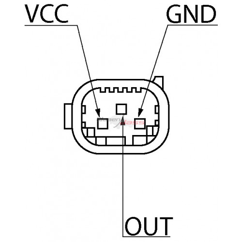Capteur de pression atmospherique remplace 0261230189 / 0261230190 / 0051535028