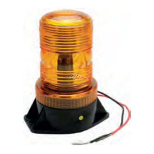 Gyrophare à LED orange 11-110 Volts / étanche