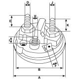 Contacteur / solenoide pour démarreur Bosch 0001230003 / 0001230005
