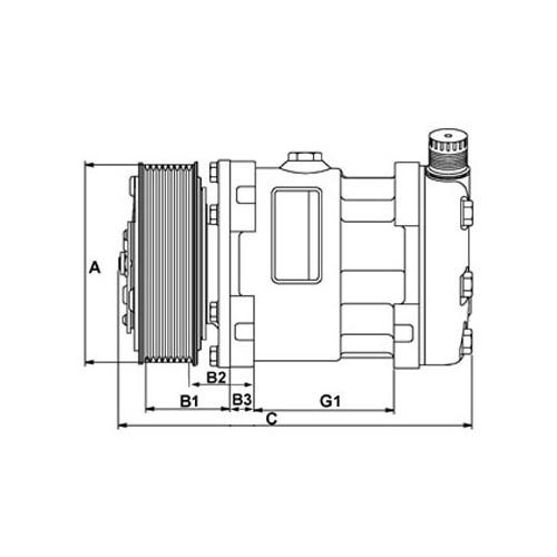 AC compressor replacing DENSO DCP32014 / SANDEN sd7v16-1206 / SD7V16-12063