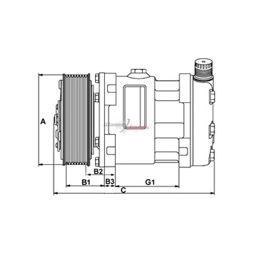 Compresseur de climatisation remplace DENSO DCP32014 / DCP32016 / DCP32018