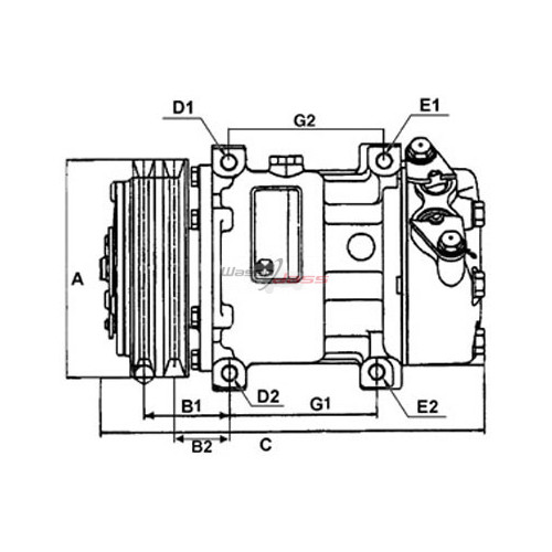 Compresseur de climatisation remplace ALFA ROMEO 60629417 / 60630739 / 60653652 / 60814396