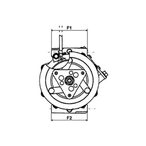 Compresseur de climatisation remplace SANDEN 1416 / 1416H /1901 / 1913 / 1919