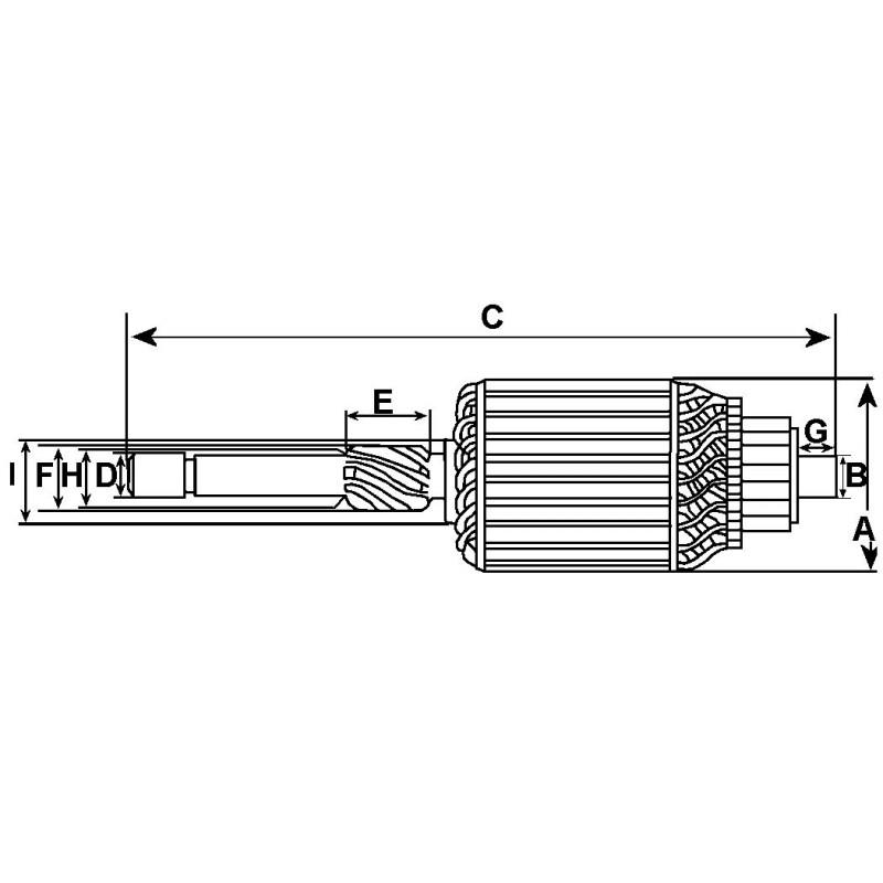Induit pour démarreur Bosch 0001204102 / 0001204103 / 0001211204 / 0001211205