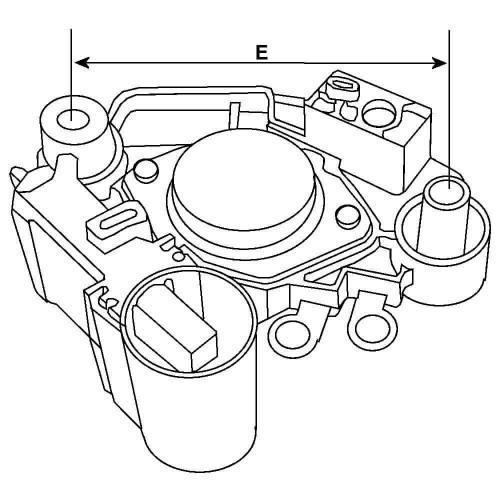 Regulator for alternator DENSO 100211-0120 / 100211-1000 / 100211- 1001