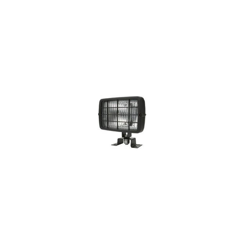 Phare de travail rectangulaire 152x104 mm H3 avec grille