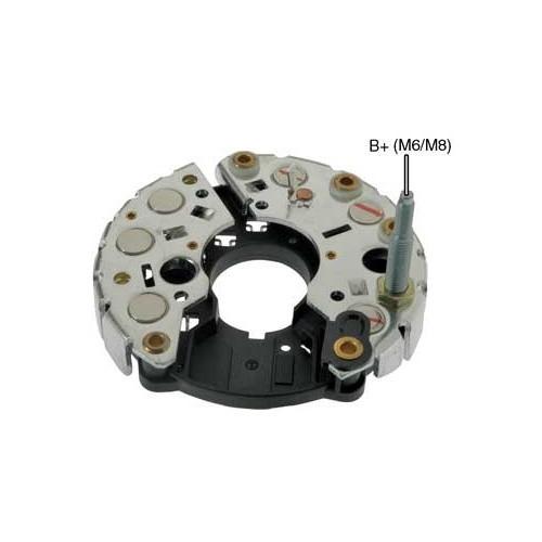 Pont de diode pour alternateur Bosch 0120400013 / 0120450011 / 0120450012