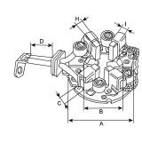 Porte balais pour démarreur Bosch 0001106018/0001106019/0001107037/0001107048