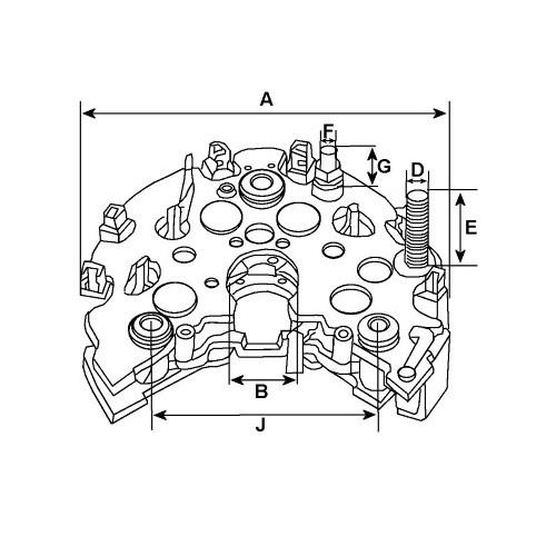 Pont de diode pour alternateur Lucas 063321310010 / 063321315010 / 063321316010