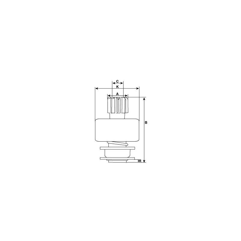 Ritzel For VALEO anlasser / Paris-Rhone d8e121 / d8e142 / d8e152