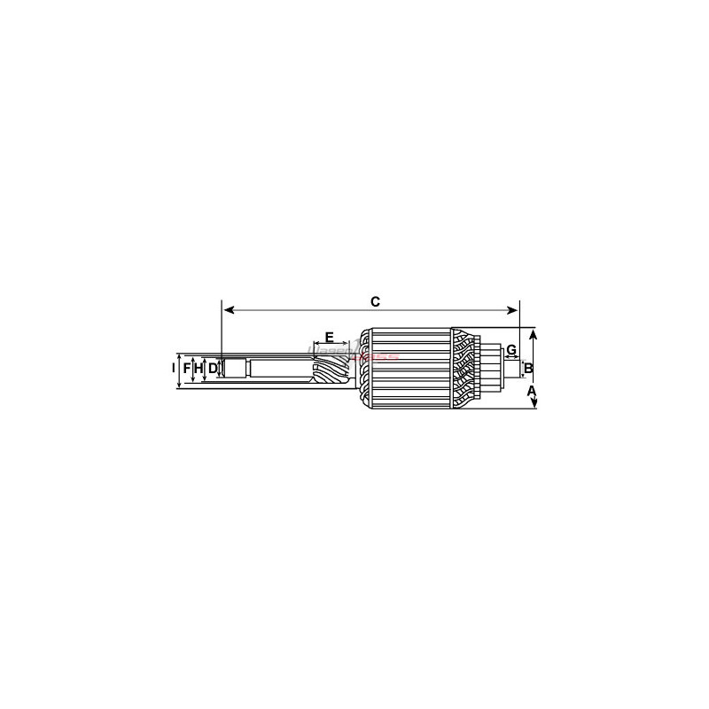 Armature for starter BOSCH 0001362005 / 0001362006 / 0001362034 / 0001362035
