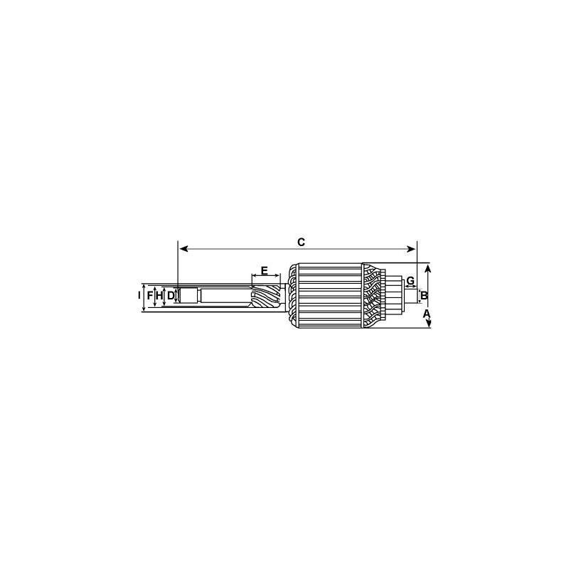 Induit pour démarreur Bosch 0001362005 / 0001362006 / 0001362034 / 0001362035