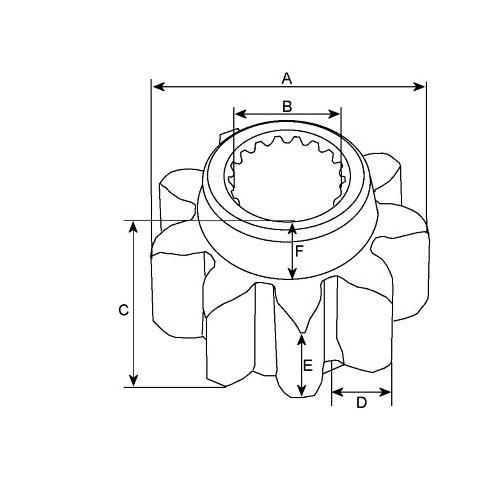 Gear wheel for starter Hitachi S114-525A / S114-800 / S114-800A / S114-800B