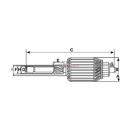 Armature for starter HITACHI S114-232 / S114-232A