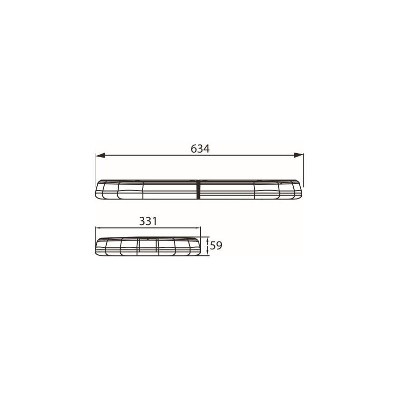 LED light bar 12 volts / E-approval