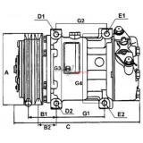 AC Compressor replacing PXE14-1601 / PXE14-1701 / PXE14-1703 / PXE14-1706 / PXE14-1707