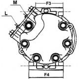 AC COMPRESSOR replacing 813650 / 5147100709 / 5147100739 / 5147100558 / 1471005580 / 4F0260805BA / 4F0260805N /