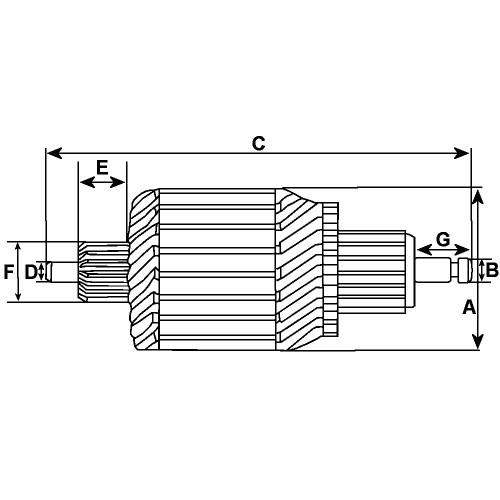 Armature for starter MITSUBISHI M001T93071 / M001T93171ZC / M001T93371