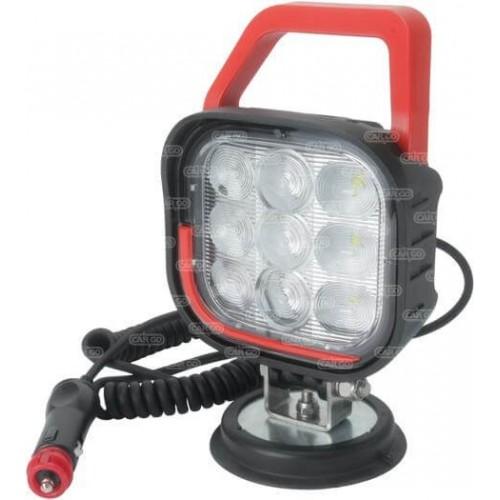 Feu de travail á LED carré 9 LEDS / Voltage 12-36