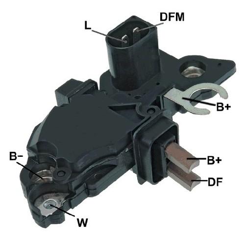 Regulator for alternator BOSCH 0124225010 / 0124225011 / 0124225039