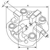 Brush holder for starter Valéo D13HP605 / D13HP607 / D13HP608