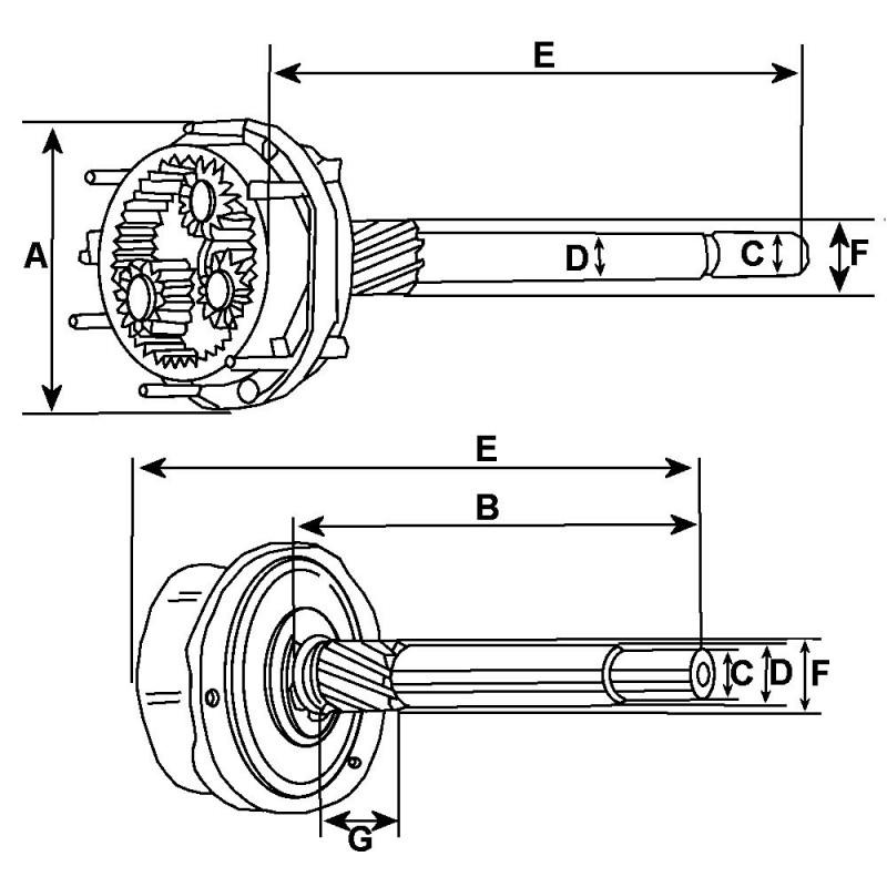 Planet gear for starter Bosch 0001110003 / 0001110017 / 0001110026
